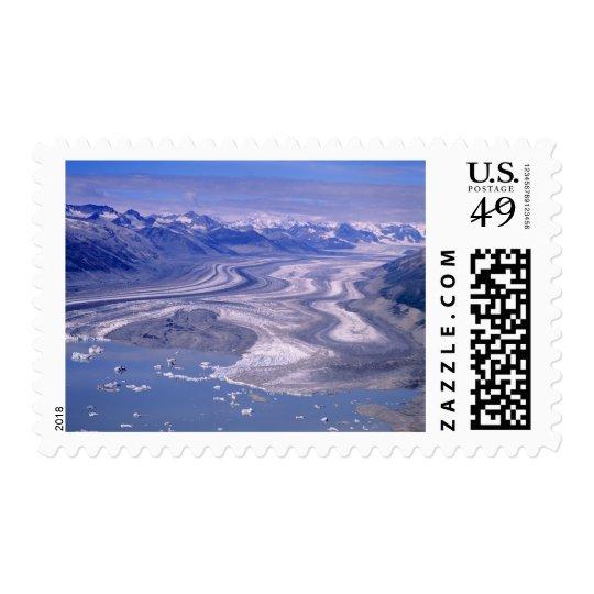 Aerial view Lowell Glacier, Kluane National Postage