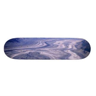 Aerial view Lowell Glacier, Kluane National Skateboard