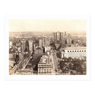 Aerial View of 42nd Street, New York City Vintage Postcard