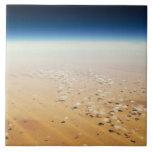 Aerial view of a desert tiles
