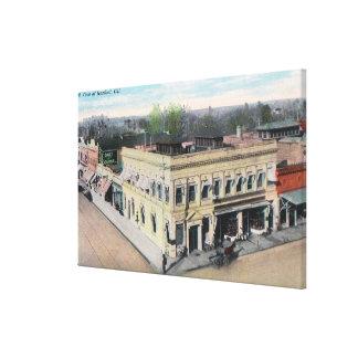 Aerial View of a Hanford Street Corner Canvas Print
