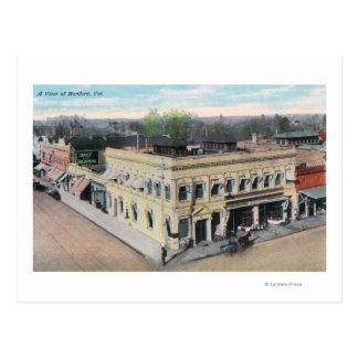 Aerial View of a Hanford Street Corner Postcard