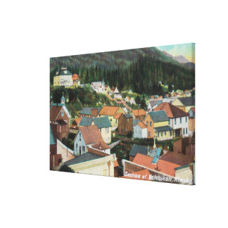 Aerial View of a Section of the City Canvas Print