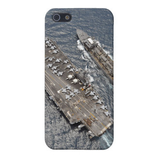 Aerial view of aircraft carrier USS Ronald Reag iPhone SE/5/5s Cover