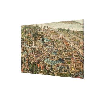Aerial View of Alaska Yukon Pacific Expo Canvas Print