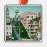 Aerial View of Angels Flight Trolley Christmas Tree Ornament