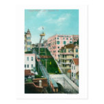 Aerial View of Angels Flight Trolley Post Card