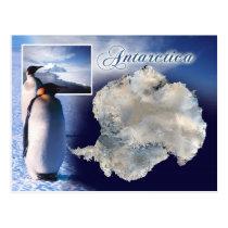 Aerial view of Antarctica Postcard