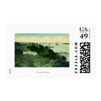 Aerial View of Antioch and San Joaquin River Stamp