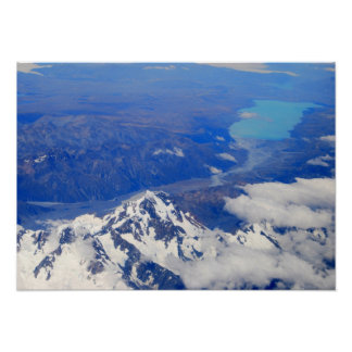 Aerial View of Aoraki/Mount Cook in New Zealand Poster