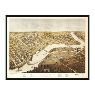 Aerial View of Appleton, Wisconsin (1867) Canvas Print