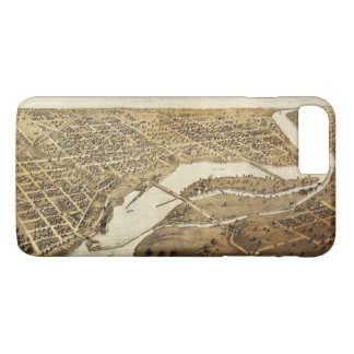 Aerial View of Appleton, Wisconsin (1867) iPhone 7 Plus Case