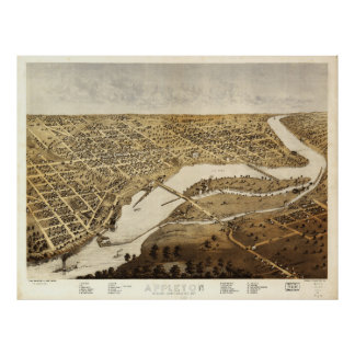 Aerial View of Appleton, Wisconsin (1867) Poster