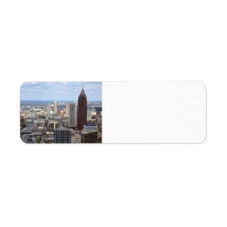 Aerial View of Atlanta, Georgia Label