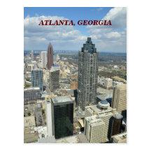Aerial View of Atlanta, Georgia Postcard