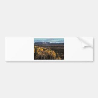 AERIAL VIEW OF AUTUMN LANDSCAPE BUMPER STICKER