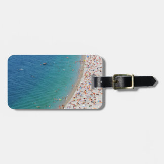 Aerial view of beach in Nice, France Bag Tag