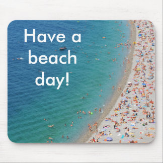 Aerial view of beach in Nice, France Mouse Pad