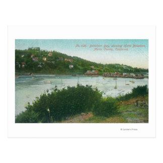 Aerial View of Belvedere Bay, Hotel Belvedere Postcard