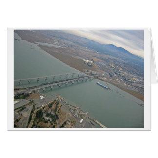 Aerial View of Benicia Bridge Greeting Card
