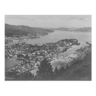 Aerial View of Bergen Vintage Postcard