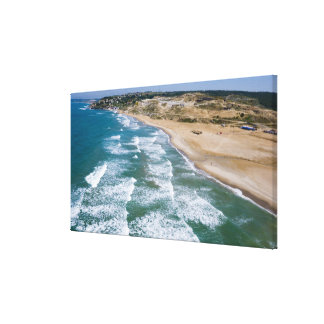Aerial view of Black Sea coast of Istanbul, Canvas Print