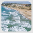 Aerial view of Black Sea coast of Istanbul, Square Sticker