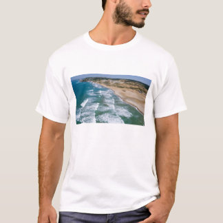 Aerial view of Black Sea coast of Istanbul, T-Shirt