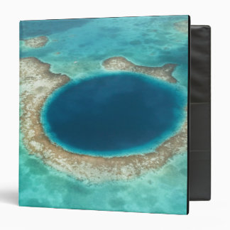 Aerial view of Blue Hole, sailboat anchored Vinyl Binders
