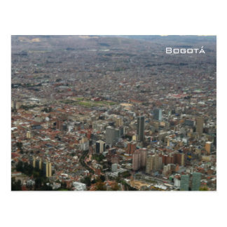 Aerial view of Bogotá Postcard