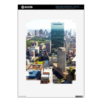 Aerial view of Boston 2 iPad 3 Decal