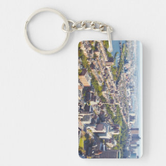 Aerial view of Boston Keychain