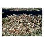 Aerial view of Boston, MA Card