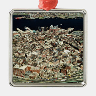 Aerial view of Boston, MA Metal Ornament