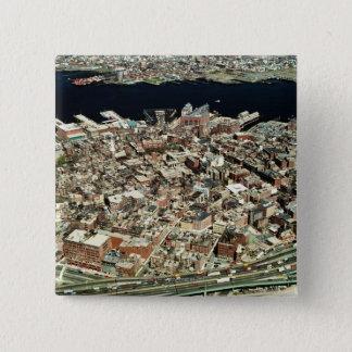 Aerial view of Boston, MA Pinback Button
