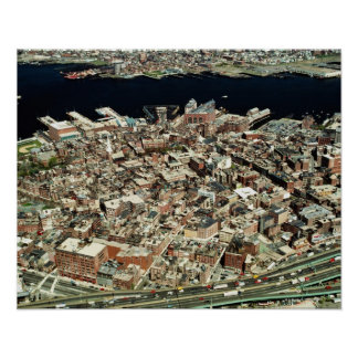 Aerial view of Boston, MA Poster