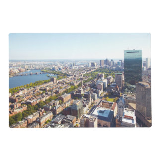 Aerial view of Boston Placemat