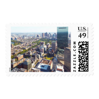 Aerial view of Boston Stamps