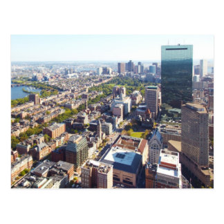 Aerial view of Boston Postcard