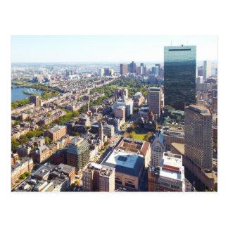 Aerial view of Boston Postcard