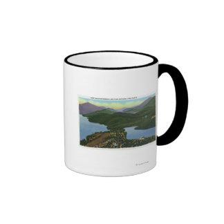 Aerial View of Both Lake Placid & Mirror Lake Coffee Mug