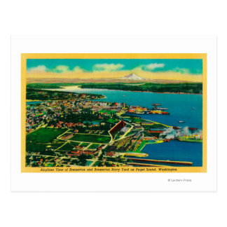 Aerial view of Bremerton and Bremerton Navy Yard Postcard