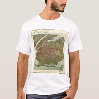 Aerial View of Brooklyn, New York (1908) T-Shirt