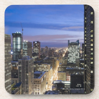 Aerial view of buildings along State Street in Beverage Coaster