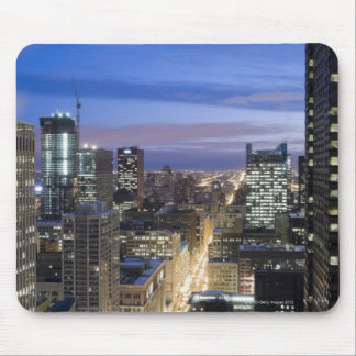 Aerial view of buildings along State Street in Mouse Pad