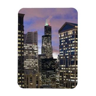 Aerial view of buildings in the Chicago Loop, Magnet