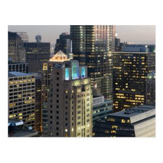 Aerial view of buildings in the Chicago Loop Postcard