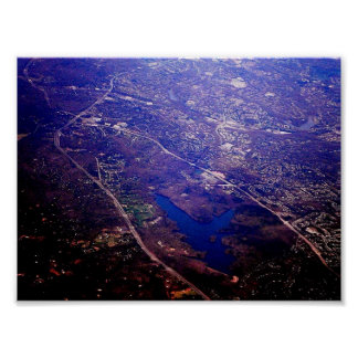 Aerial View of Burke, Virginia Poster