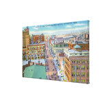 Aerial View of Business Section of the City Canvas Print