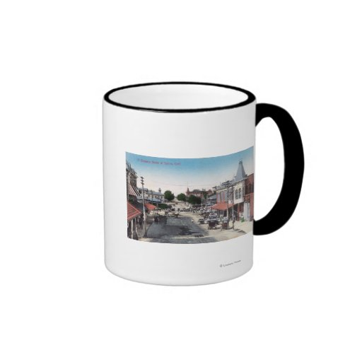 Aerial View of Business SectionSelma, CA Ringer Coffee Mug